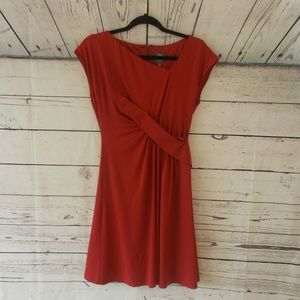 Vince Camuto Red Faux Wrap Dress size 4